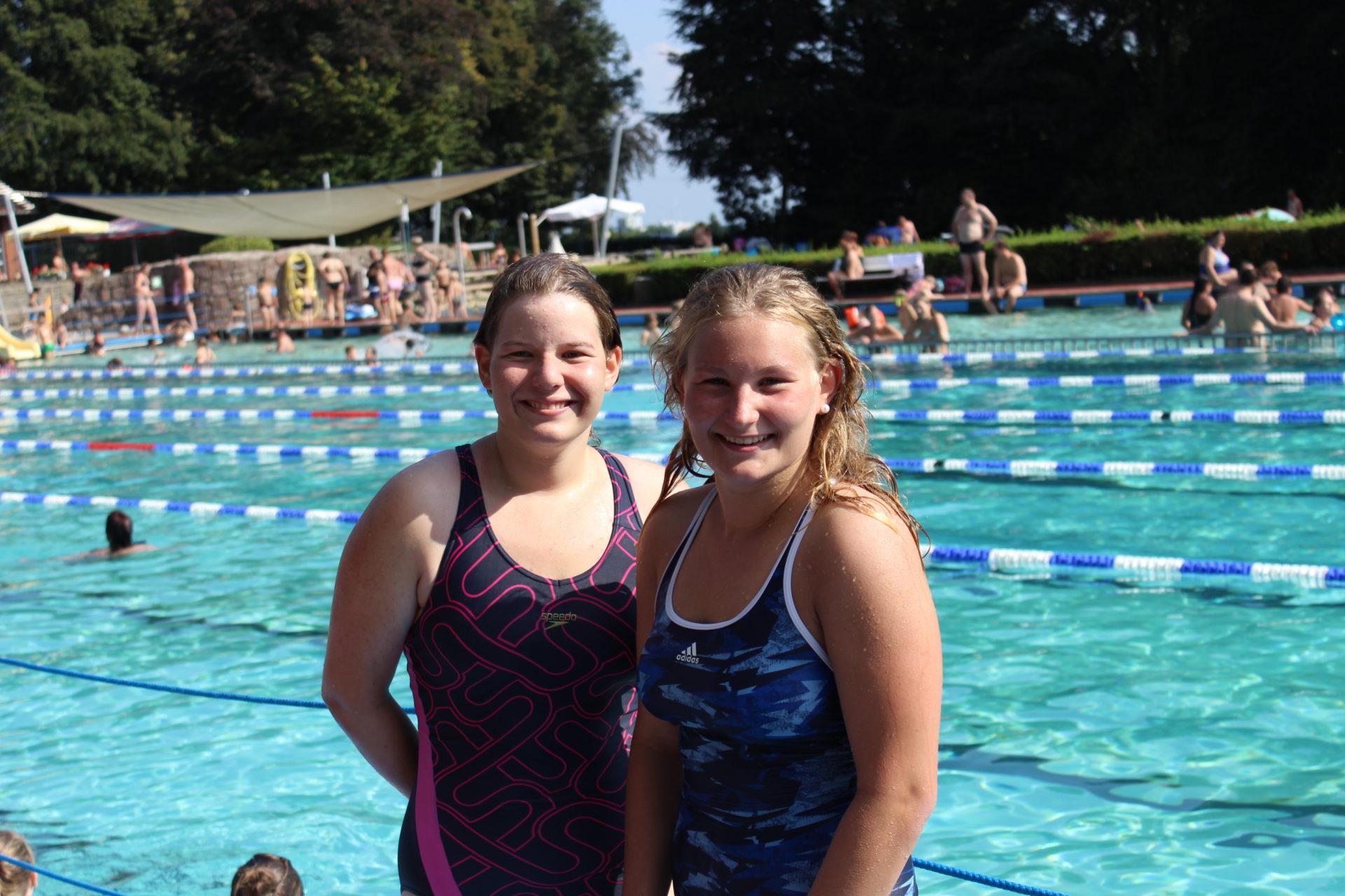 Artikelfoto zum Artikel 24-Stunden-Schwimmen: Sophia Wiers und Cosima Bahr ganz oben